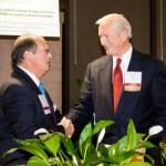 Elton Bomer receiving Award from PHSAA Board member Paul Morris